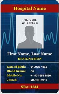 Ms Word Card Template 6 Best Medical Staff Id Card Templates Ms Word Microsoft
