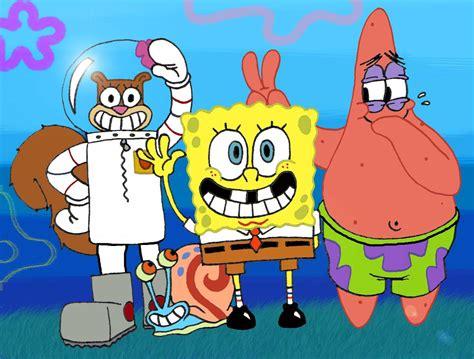Spongebob Squarepants Characters Hd Wallpaper, Background