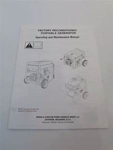 Operating  U0026 Maintenance Manual For Briggs  U0026 Stratton