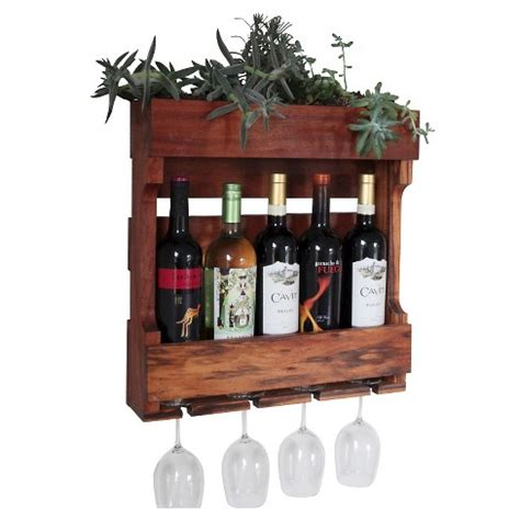 wall mounted wine rack  succulent planter western