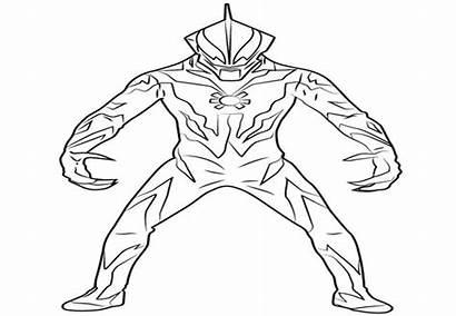 Ultraman Gambar Mewarnai Zero Hitam Putih Kumpulan