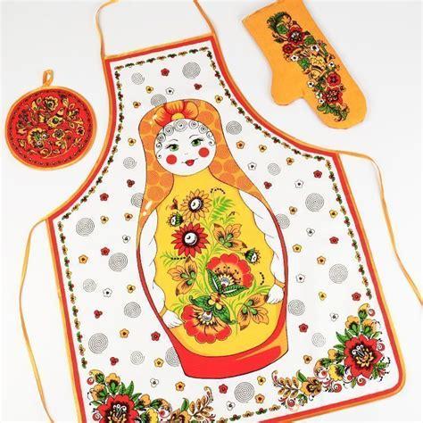 russian doll kitchen accessories kitchen aprons accessories russian doll apron set the 4954