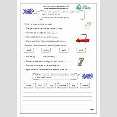 Common Nouns As Naming Words English Worksheet For Key Stage 1
