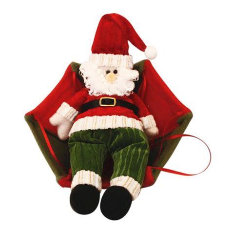 santa claus snowman parachute christmas tree hanging