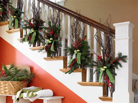 staircase decorations  christmas diy railings