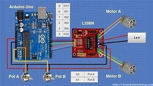 Dc Motors With L298n Dual H