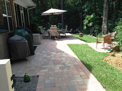 belgard paver tile overlay expands existing concrete patio