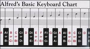 Alfred U0026 39 S Basic Keyboard Chart For Piano Or Keyboard With Full