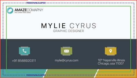 simple business card psd template freedownloadpsdcom