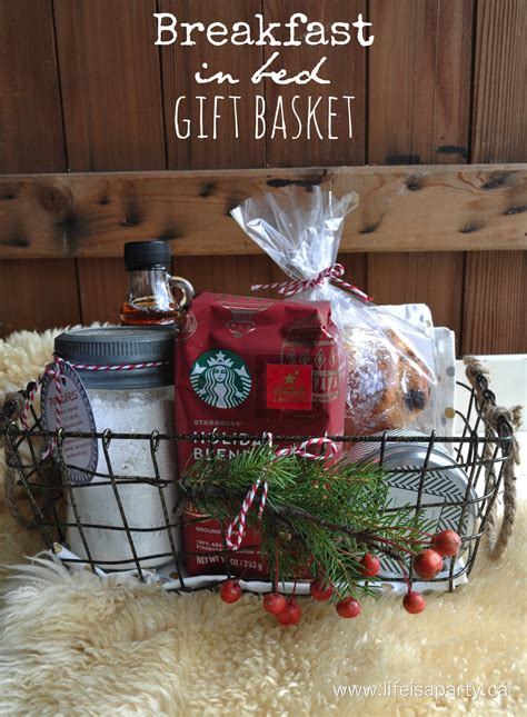 breakfast in bed gift basket life is a party