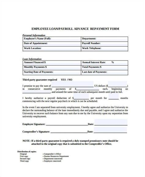 20026 employee advance form sle payroll advance forms 8 free sle exle