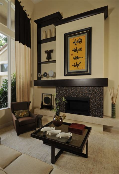 sleek  comfortable asian inspired living room ideas