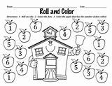 Dots Roll Teacherspayteachers Corresponding Identify Dice Activity sketch template