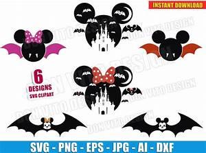 Bat, Mickey, Mouse, Halloween, Bundle, Svg, Dxf, Png, Disney, Cut