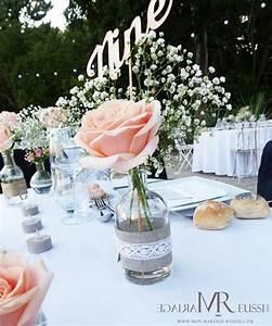 Nom De Table Mariage Champetre : deco fleur table mariage fleurs geantes decoration maison retraite champfleuri ~ Melissatoandfro.com Idées de Décoration