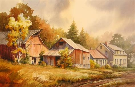 vermont farm watercolor painting of a farm in vermont s northeast kingdom watercolor