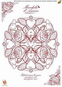 Dessin Saint Valentin : coloriage saint valentin mandala ~ Melissatoandfro.com Idées de Décoration