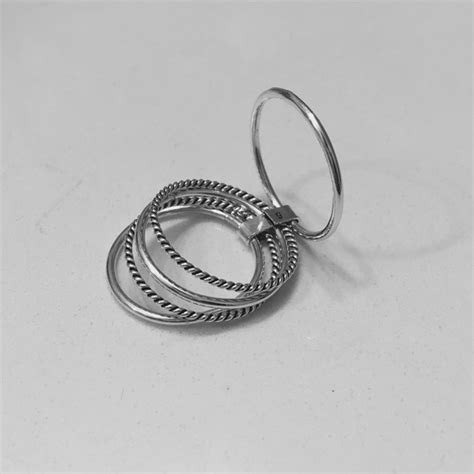 Sterling Silver 5 Thin Band Attached Ring From Indigo And. Woven Wedding Rings. Beach Wedding Wedding Rings. Wedding Day Engagement Rings. Inlaid Wood Wedding Rings. Vintage Wedding Band Wedding Rings. Impossible Wedding Rings. Palace Wedding Rings. Circular Wedding Rings