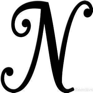 amazon com initial it initial powder coat black metal script letter n home kitchen