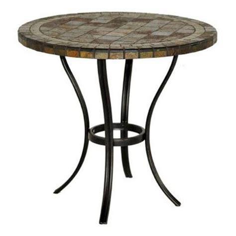 hton bay patio tables 30 in slate patio bistro