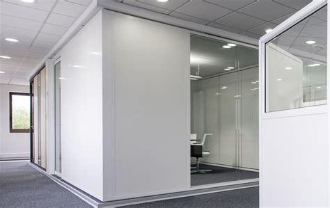 bureau haut de gamme les cloisons pleines toute hauteur aluminium espace