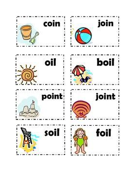 vowel sound oi oi and oy cards resources