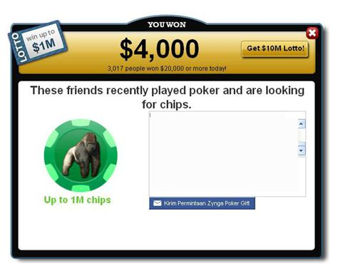 zynga poker banned tagged lottery 3times instead once win daily myspace