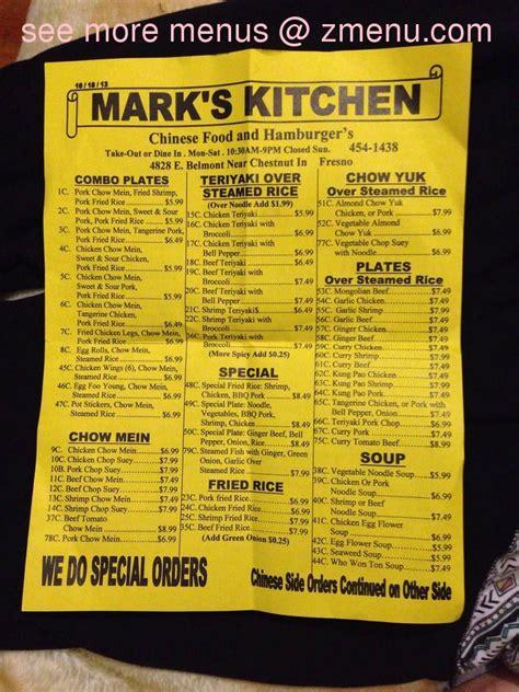 menu  marks kitchen restaurant fresno