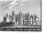 Richmond Palace, Surrey, Built Drawing by Mary Evans ...