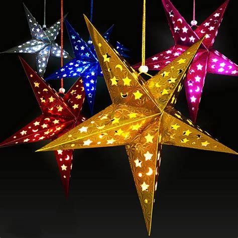 christmas stars decorations 2015 decoration tree pentagram lshade paper lantern hanging