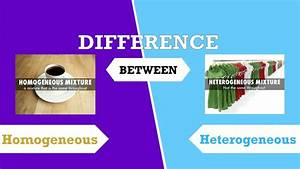 Difference between Homogeneous and Heterogeneous Mixtures ...