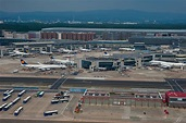 Photo 1606-17: Frankfurt Airport in Germany, view from a ...