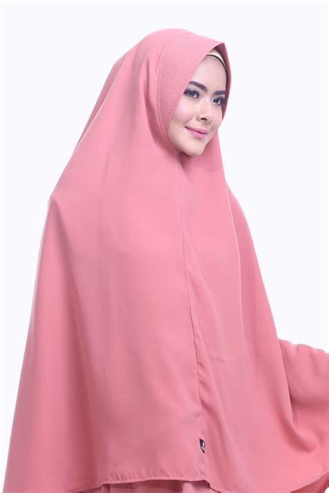 khimar raisa peach hijab alsa khimar kerudung syari