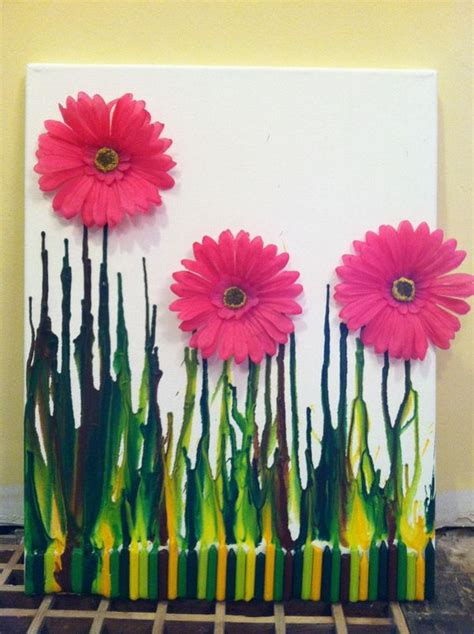 cool melted crayon art ideas hative