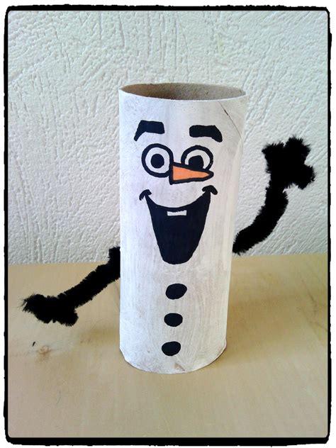 olaf en rouleau de papier toilette bricolage reine des neiges enfant h 233 ros et personnages