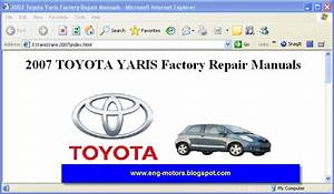 Toyota Yaris Repair Manual 2007