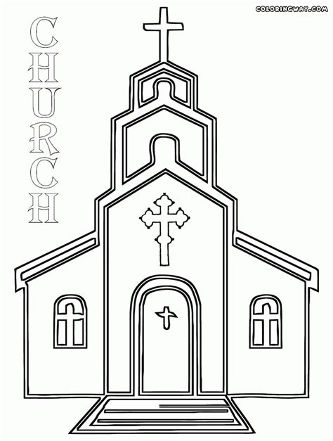 church coloring pages coloring pages of a church coloring home