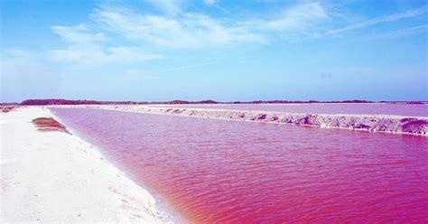 ทะเลสาบสีชมพูที่เม็กซิโก สวยหวานสดใสด้วยฝีมือธรรมชาติ