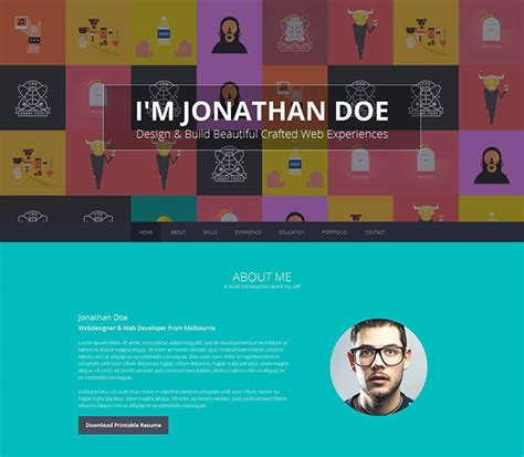 Interactive Resume Website by 12 Creative Interactive Resumes Web