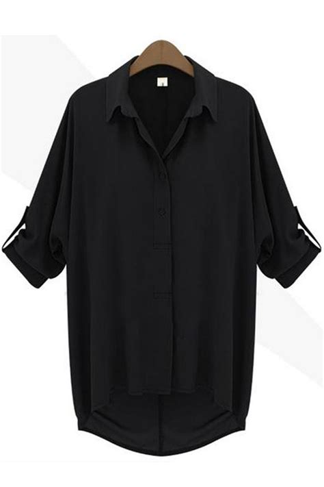 black blouse plus size tomcarry evening wear sleeves shirt and blouse