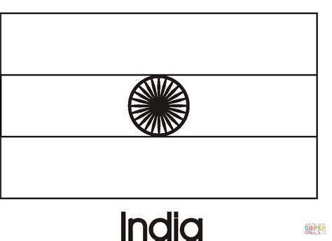 india flag coloring page  printable coloring pages
