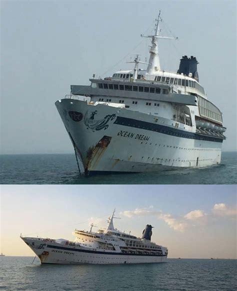 Cruise Ship Sinking by Cruise Ship Capsized And Sank Laem Chabang