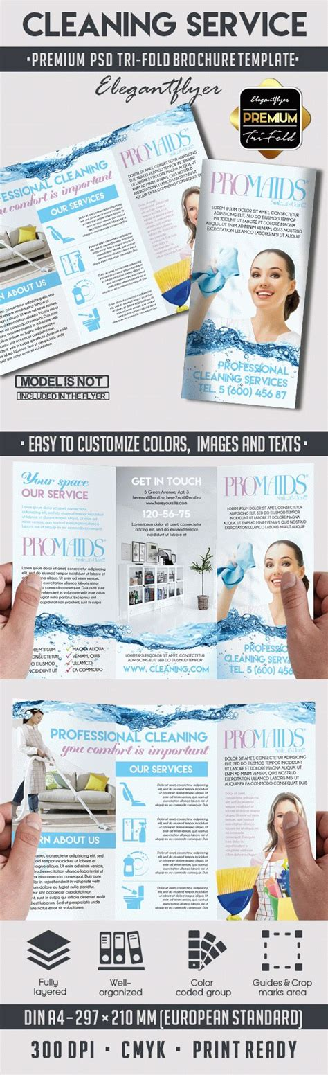 Cleaning Services Bi Fold Template By Elegantflyer Cleaning Service Tri Fold Brochure By Elegantflyer