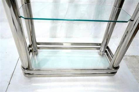 Chrome And Glass Etagere By Pace Collection For Sale At