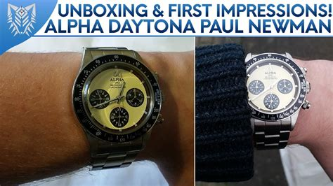 paul newman homage unboxing first impressions alpha daytona paul newman