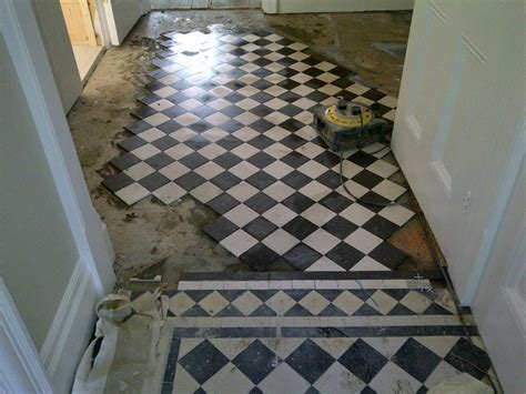 Rebuilt Victorian Tiled Hallway Cleaned and Sealed in