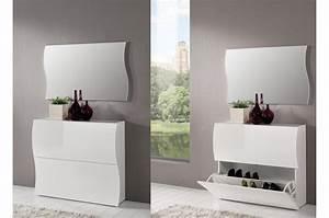 Meuble Laqué Blanc : meuble chaussures laqu blanc siberie cbc meubles ~ Melissatoandfro.com Idées de Décoration