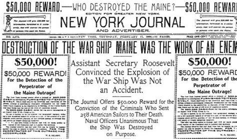 uss maine sinking yellow journalism back in the 1890s news helped start a war