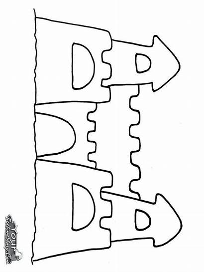 Sand Castle Coloring Printable Pages Drawing Fortune
