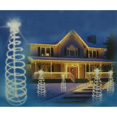 clear lighted outdoor spiral christmas tree yard art